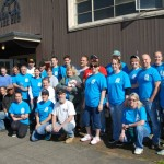 Great workers volunteered to paint Hope House