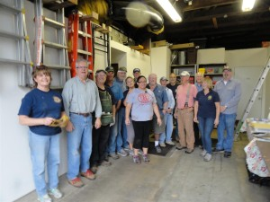 Bed-making crew from  Rotary club of Greater Clark County