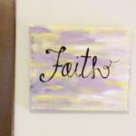 Room name sign, Faith