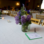 Lovely Lilacs graced the tables