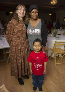 Rebekah and her son, Miguel celebrate their new life