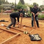Framing the playground set