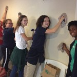 People of Praise Youth Ministry also helped wash our dusty walls.