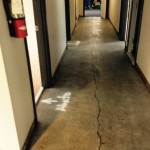 Newly cleaned hallway. No more asbestos!