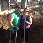 One of the guys even brought his wife along to help dig!