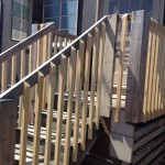 New lumber on the steps so the holes are less than 4 inches wide.