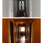Before and after pictures of our upstairs hallway