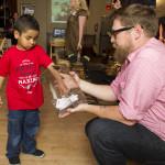 Miguel, Rebekah's son, picked the winning raffle ticket