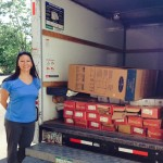 Brenda helped get us donations of floor board and kitchen cabinets
