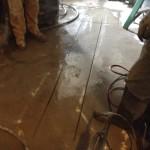 Newly cut floor