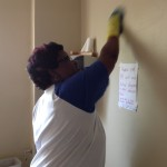 Nikki from Community Open Bible Church helped wash too.