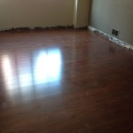 And here is one of the finished floors. We just need the cove molding.