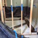 I took this looking through the new wall of our new ADA accessible bathroom, ready for the plumbing