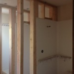 All three showers in the shower room are in and ready for the wall board.