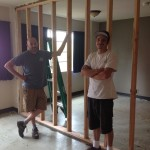 This great team framed the walls