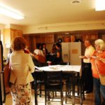 Guests enjoyed refreshments served in the kitchen.